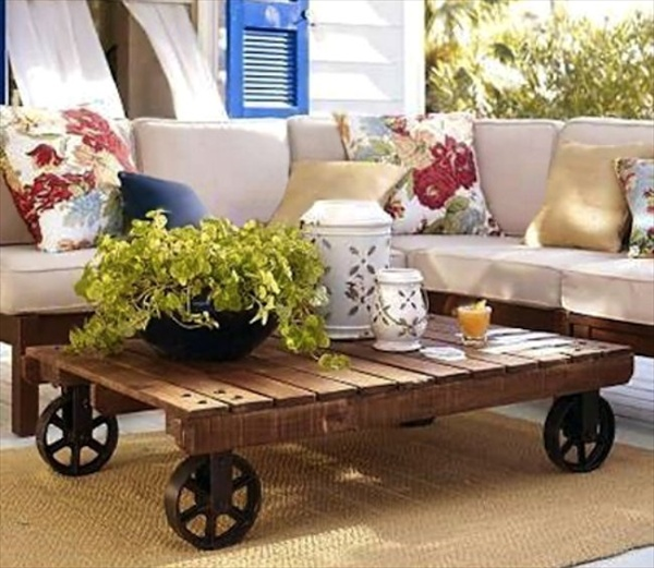 Pallet Furniture Coffee Table-woodenpalletfurniture.com