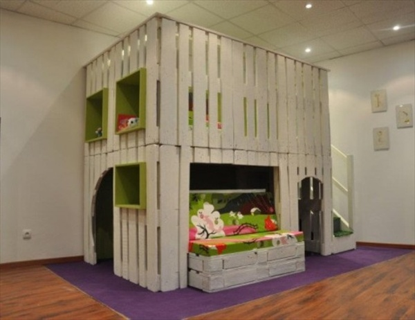 Diy Designs Kids Pallet Playhouse Plans Wooden Pallet Furniture