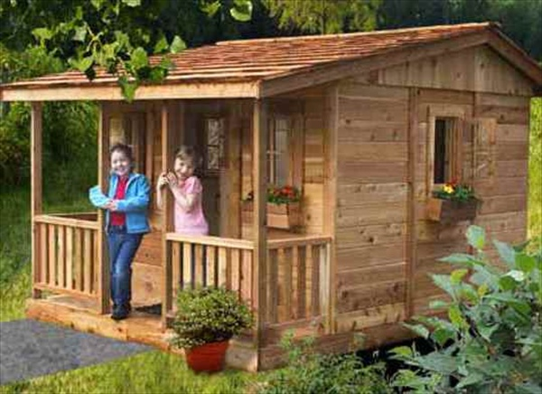 Diy designs kids pallet playhouse plans wooden pallet How to build outdoor playhouse