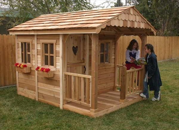 outdoor wood playhouse plans