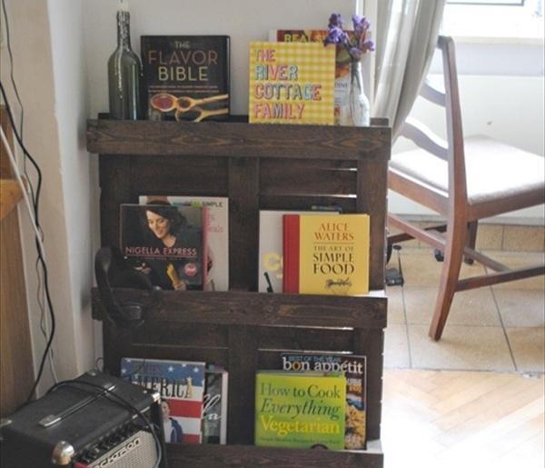 DIY: Pallet Bookshelf Plans or Instructions | Wooden Pallet Furniture