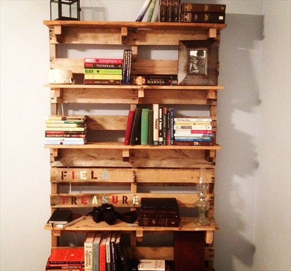 DIY: Pallet Bookshelf Plans or Instructions | Wooden Pallet Furniture