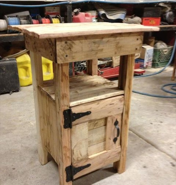 Pallet nightstand do it yourself pallets wooden pallet furniture pallet nightstand 8 solutioingenieria Choice Image