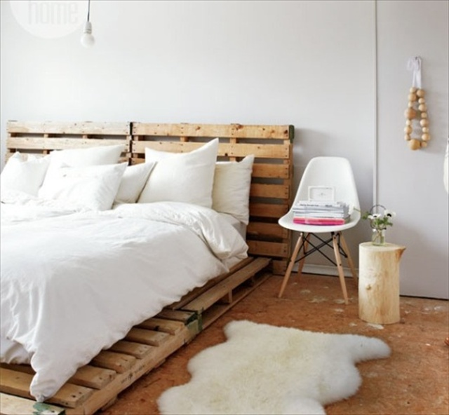 Catchy and distinct style pallet bed diy wooden pallet for Simple bed diy