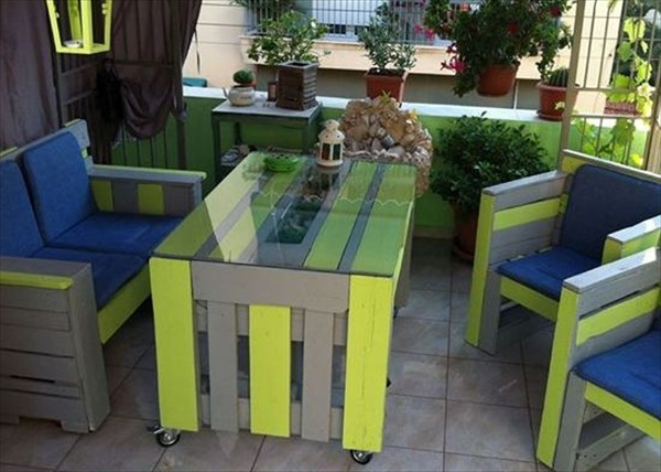 pallet patio furniture plans