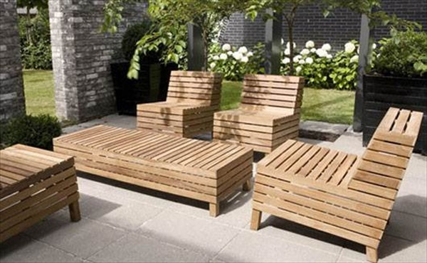 39 Ideas about Pallet Outdoor Furniture for Modern Look  : pallet outdoor furniture 24 from woodenpalletfurniture.com size 600 x 370 jpeg 103kB