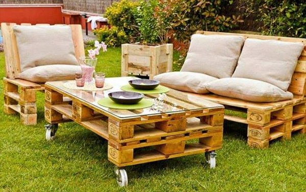 39 Ideas about Pallet Outdoor Furniture for Modern Look | Wooden ...