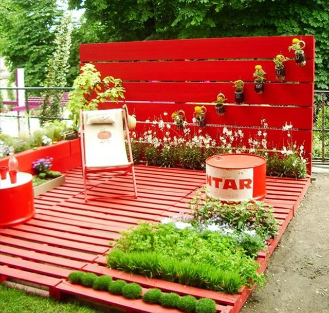 Garden Pallet Art Ideas
