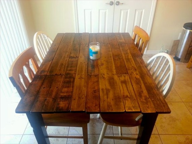 Pallet Kitchen Table for Your Dining Area | Wooden Pallet Furniture