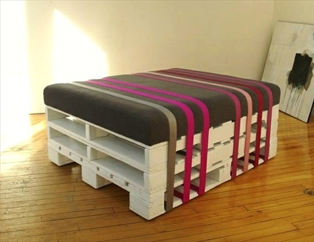 diy pallet ottoman an affordable multipurpose solution