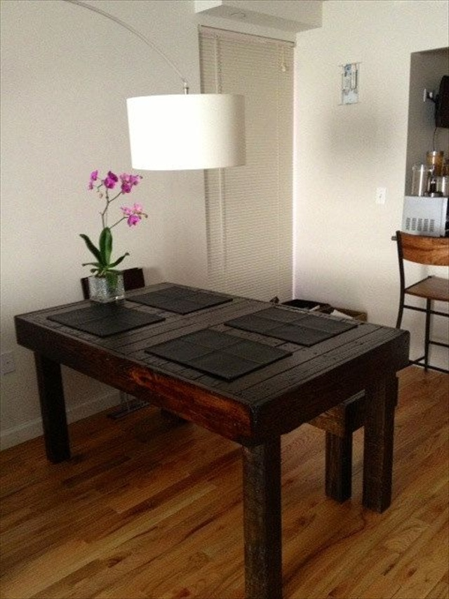 Decorate And Make Your Pallet Dining Table Unique Wooden