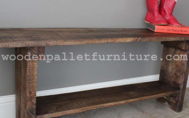 Rustic Pallet Wood Bench Instructions