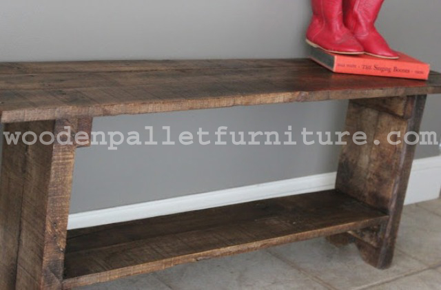 Rustic Pallet Wood Bench Instructions Wooden Pallet Furniture