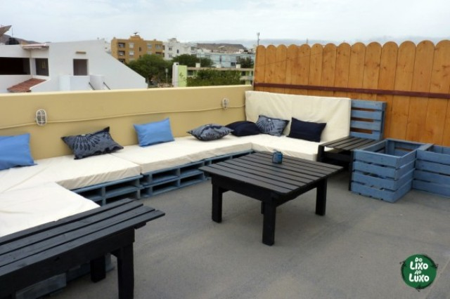 How to Use Pallets to Decorate Your Terrace? | Wooden Pallet Furniture