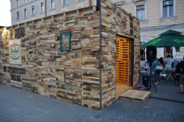 Pallet Wood Art Pavilion