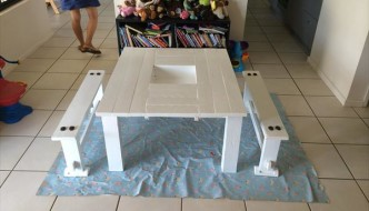 DIY Kids Table with Mess Storage