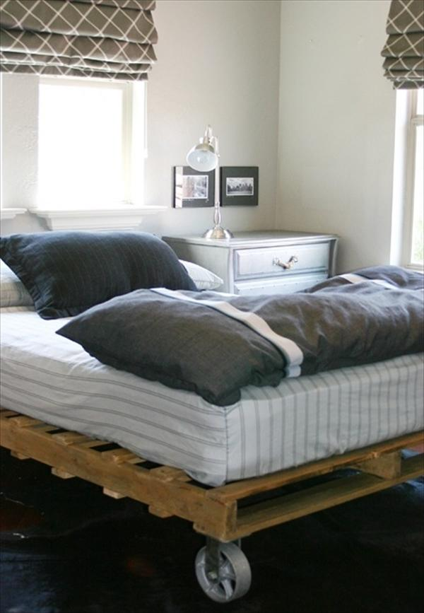 Pallet Bed with Wheels