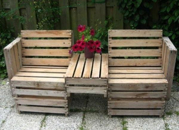 10 simple diy pallet bench designs wooden pallet furniture for Palette table de jardin