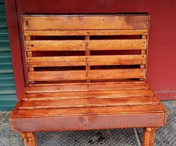brown pallet bench