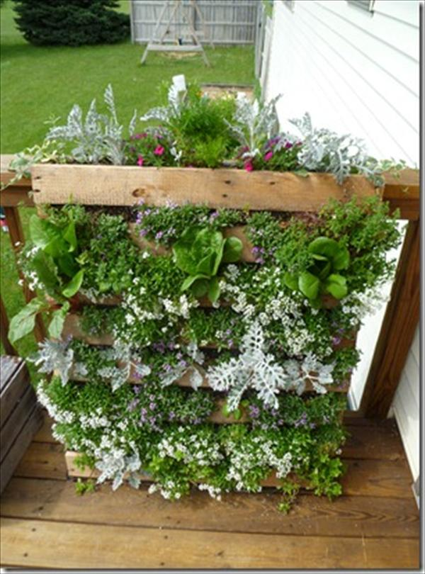 DIY Vertical Pallet Garden Wooden Furniture
