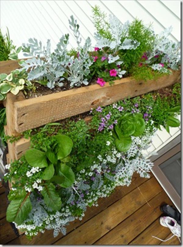 Pallet Vertical Garden - 16 Do It Yourself Ideas | Wooden ...