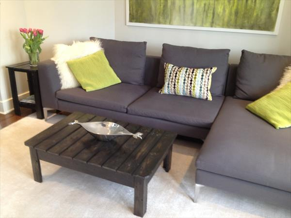 diy pallet coffee table for living room wooden pallet furniture. Black Bedroom Furniture Sets. Home Design Ideas