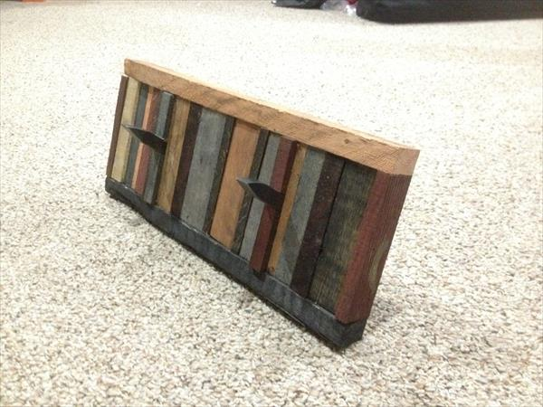 repurposed pallet coat rack