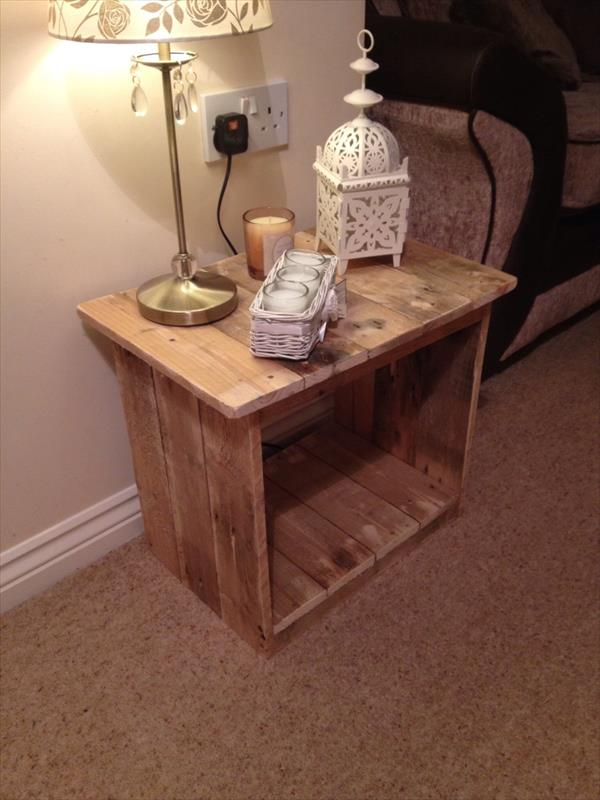 diy pallet decorative side table