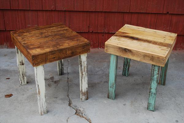 upcycled pallet side tables