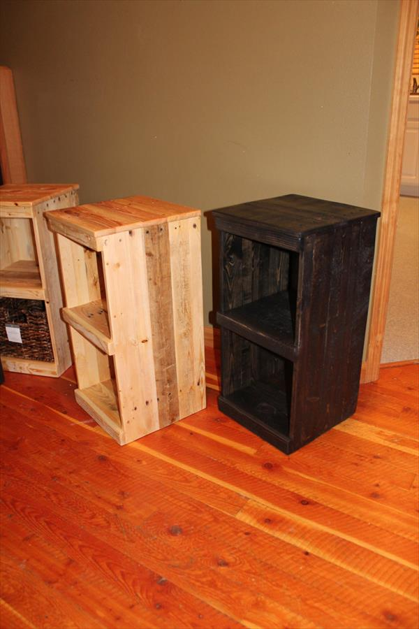 reclaimed pallet storage bins