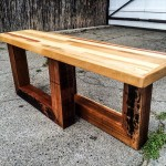 repurposed pallet entry bench