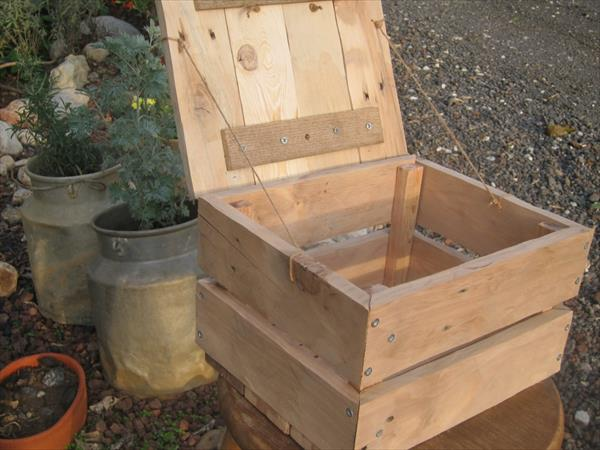 handmade pallet storage box