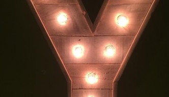 recycled pallet lighted marquee letter