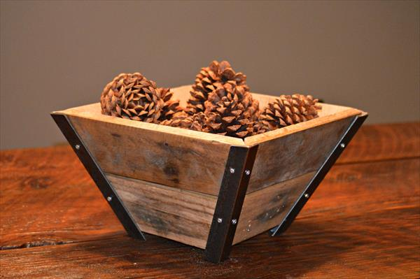 handcrafted pallet steel bowl