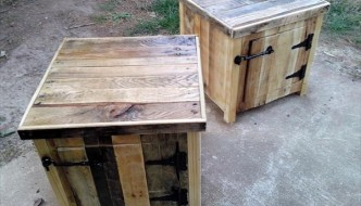 upcycled pallet vintage nightstands