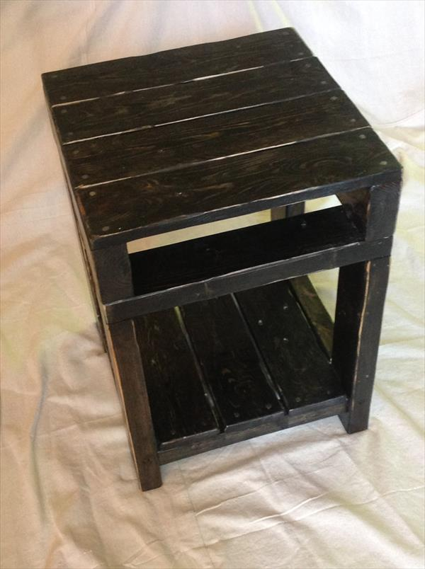 Wooden Pallet End Table