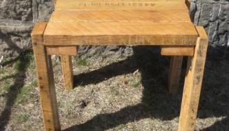 rustic yet modern pallet table