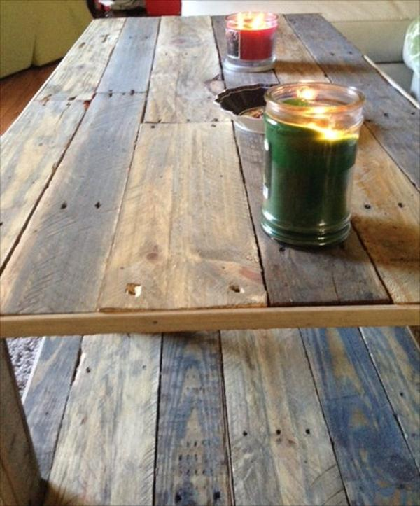 upcycled pallet coffee table