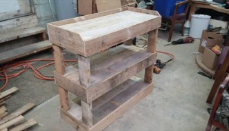 recycled pallet wood shelving unit and shoes rack