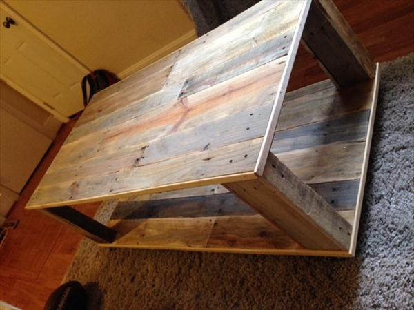 DIY Pallet Wood Coffee Table | Wooden Pallet Furniture