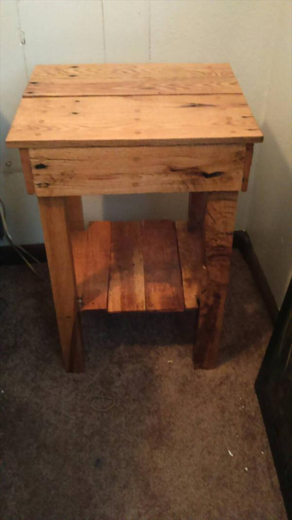 handmade rustic pallet sofa table and nightstand