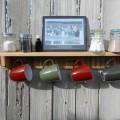 recycled pallet wood mug holder