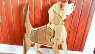 reclaimed pallet beagle dog wall art