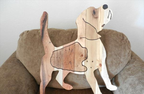 upcycled pallet beagle dog hanging wall art