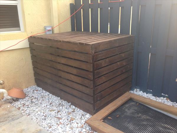 recycled pallet A/c cover