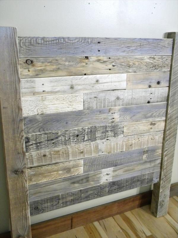 Diy Distressed Pallet Twin Headboard Wooden Pallet Furniture