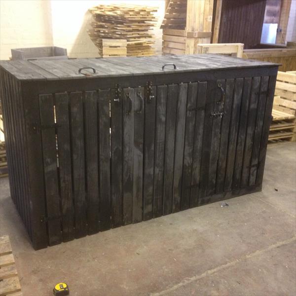 recycled pallet storage bin