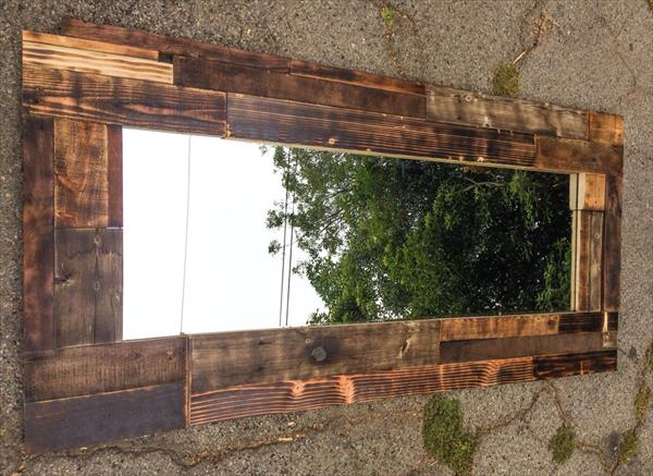Wood Pallet Wall Mirror | Wooden Pallet Furniture