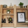 recycled pallet decorative wall shelf