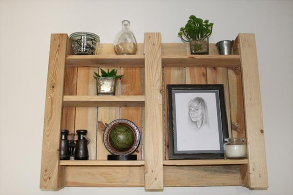 Diy Pallet Decorative Shelf Wooden Pallet Furniture
